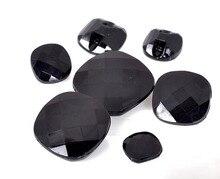 Botones cuadrados de acrílico negro y transparente para abrigo con botones para Jersey de 30 Uds.