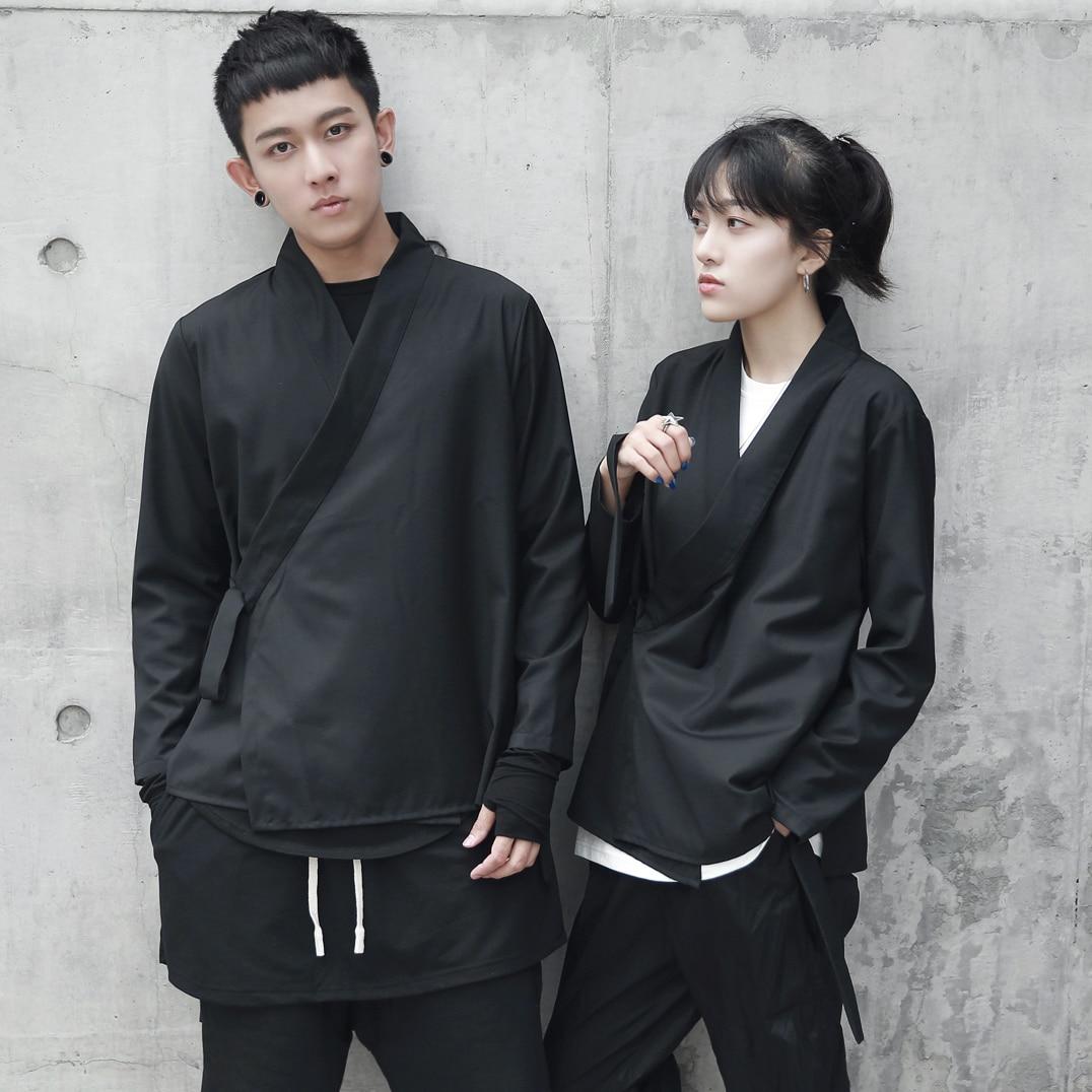 Summer men loose cardigan japanese kimono coat Harajuku high street hip hop punk outerwear jacket Japan Vintage Windbreaker 2805
