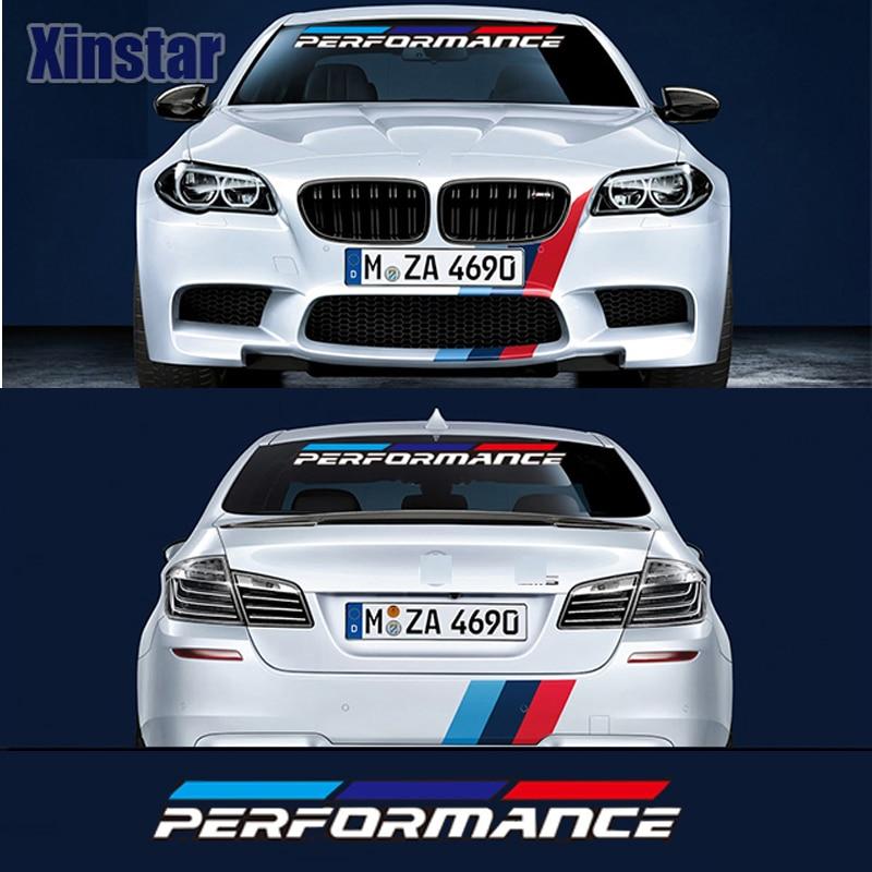 2 шт. М МОЩНОСТЬ производительность автомобиля наклейки на окна для BMW F30 F10 316 318 320 330 335 520 530 550 750 E46 E60 E90 E36 E70