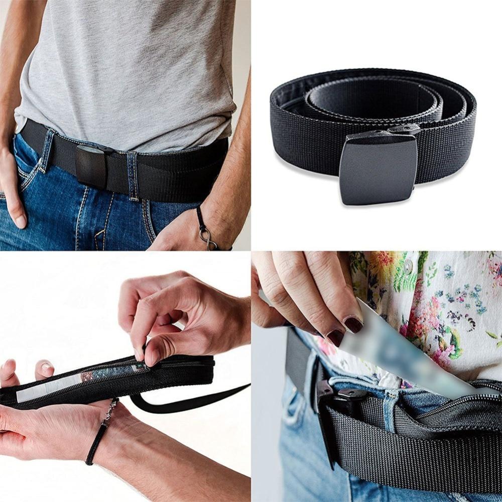 Bolso de viaje oculto para dinero en efectivo, cinturón, herramientas para exteriores, bolsa antirrobo para la cintura, bolso, cartera, riñonera, 1,25 M