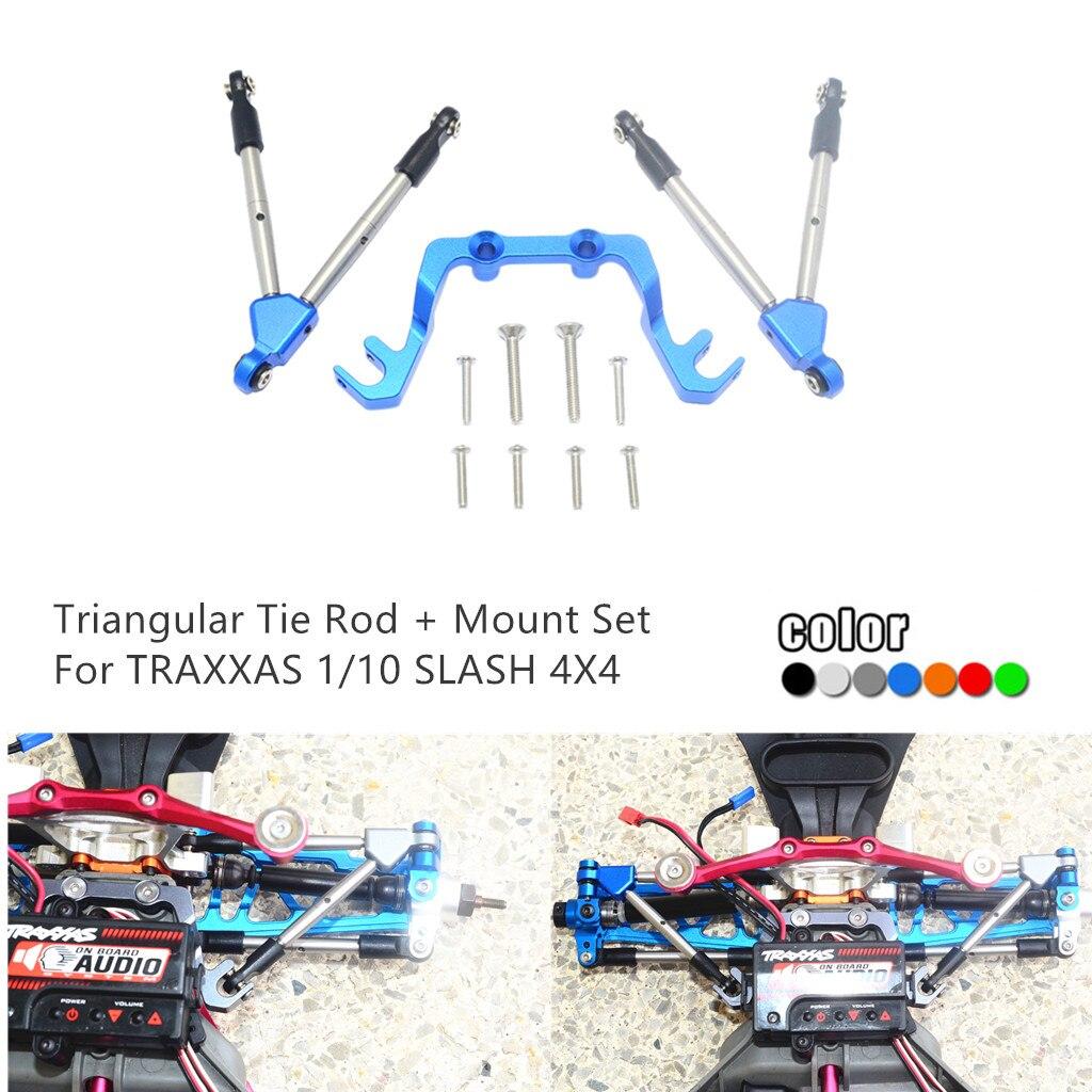 GPM Aluminum Triangular Tie Rod+Mount Set For TRAXXAS 1/10 SLASH 4X4 LCG RC Car RC Car Accessories RC Parts High Quality