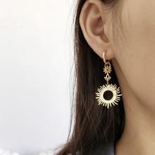 Single piece LouLeur 925 sterling silver Sun goddess exaggeration drop earrings gold big earrigns for women festival jewelry