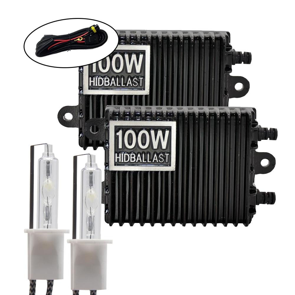 TPTOB 100 Вт балласт комплект HID ксеноновая лампа 12 В H1 H3 H7 H11 9005 9006 4300k 5000k 6000k 8000k Авто Xeno фара