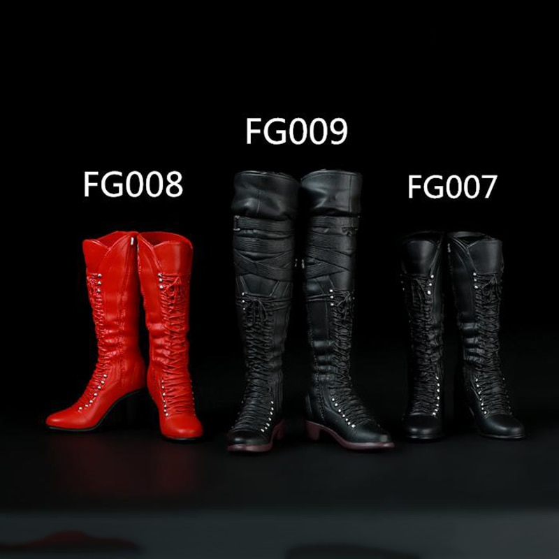 AliExpress - 1/6 FG007 FG008 FG009 Women Action Figures Long and Middle Long Boots for 12 Inches Bodies Black and Red