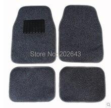 FM001 Car floor mats Carpets with pvc  waterproof anti-slip mat black /grey  66*45cm pad pedals  sticky pad