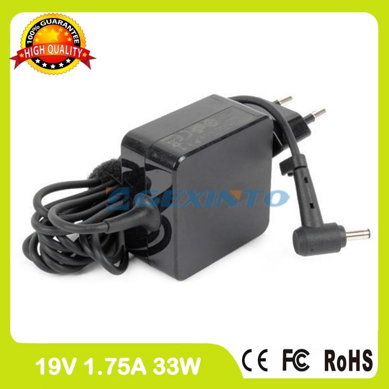 Ac adapter 19 V 1.75A 33 W cargador del ordenador portátil para Asus VivoBook S200E S200L S202E S300E X207NA X441NA X441SA X502SA x540NA X540SA