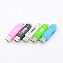 Etmakit nouveau lecteur de carte OTG USB 2.0 Hub universel Micro TF lecteur de carte adaptateur Kit de connexion pour ordinateur de téléphone portable Android