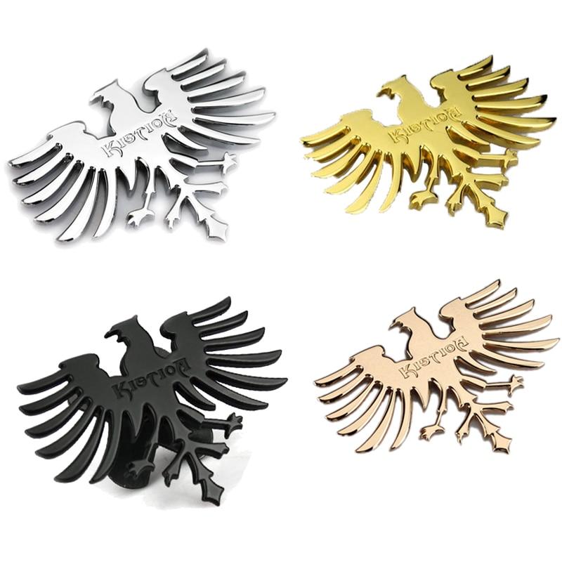 3d metal logotipo da águia frente do carro grill emblema adesivo para volkswagen opel skoda toyota fiat nissan renault lexus mazda subaru