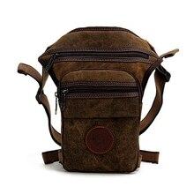 Nouvelle mode qualité toile imperméable sac de taille jambe sac voyage décontracté hommes moto cuisse sac Fanny pack sacs de taille