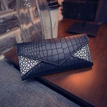 Femmes portefeuilles mode Alligator motif conception sacs à main décontractés PU cuir femme Long portefeuille Crocodile cartes titulaire pour les jeunes filles
