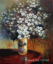 Regalo arte floral pintura moderna Asters pinturas de Claude Monet Decoración Para sala de estar hecho a mano de alta calidad