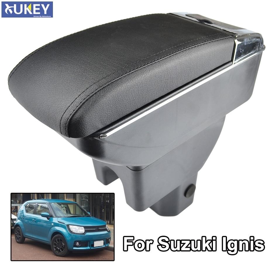 Reposabrazos para Suzuki Ignis 2016 - 2018 reposabrazos doble capa caja de almacenamiento decoración 2017 estilo de coche