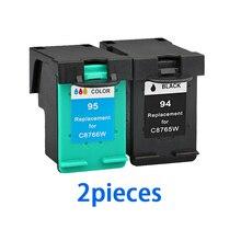 XiongCai cartuchos de tinta compatibles para HP 94 95 Deskjet serie 5740, 6840, 9800, 9860, 6540 HP Officejet 6210 de 7410 impresoras para HP94 para HP95