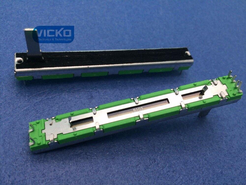 [YK] Behringer Soundcraft 7,5 cm 75MM B10KX2 doble potenciómetro de deslizamiento recto B10K manejar 15mm interruptor