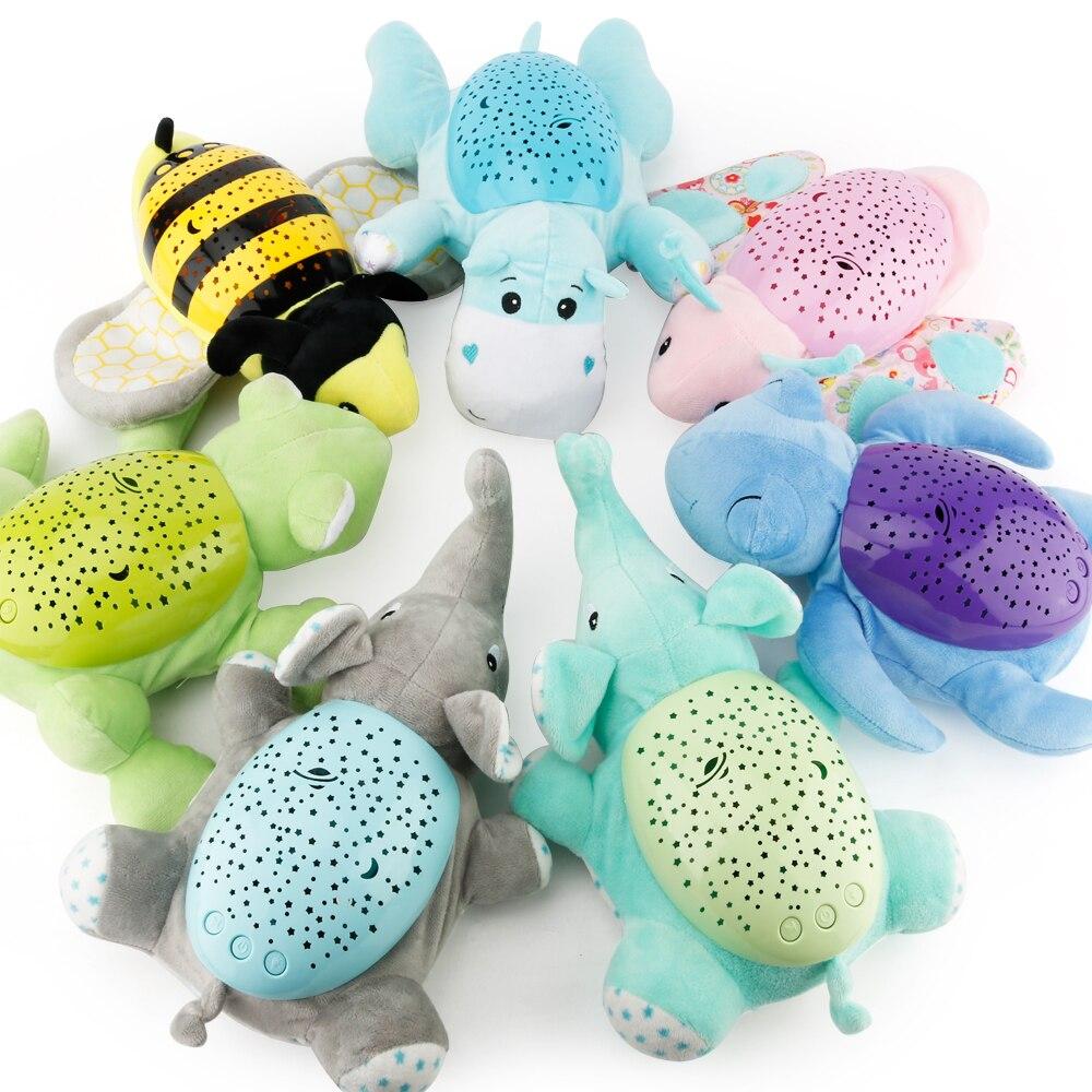 Animal Plush Toy Baby Infant Summer Slumber Buddies Night Light Star Lamp
