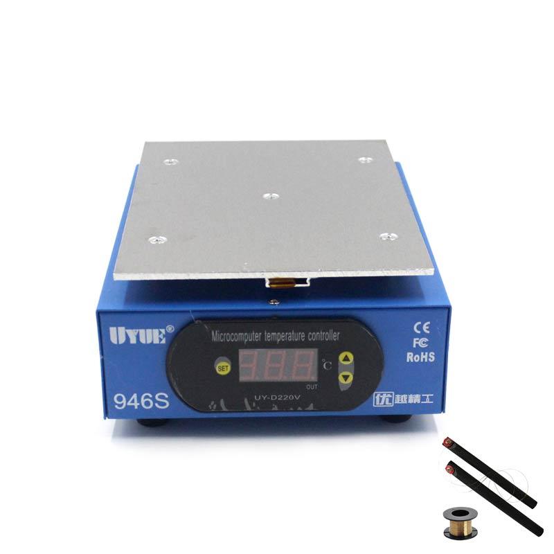 UYUE 946s подогревающая станция 220/110 в 400 Вт 140x200мм ЖК-цифровой экран платформа нагревательная пластина для ремонта телефона разделитель экрана