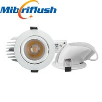 12pcs/lot 10w 2700k-6000k 130LM/W Adjustable recessed Bright Indoor Light COB LED Downlight Gimbal downlight 360 Degree