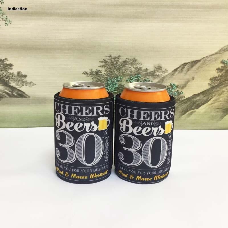 60/lote enfriador de lata de neopreno para comida de Picnic soporte rechoncho de cerveza como regalo de Navidad o Día de Acción de Gracias para tienda de alimentos