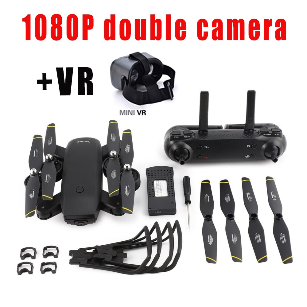 Stable 1080P FPV WIFI Drone With Camera HD Optical Flow Positioning Quadrocopter Altitude Hold Folding RC Helicopter toy for kid enlarge