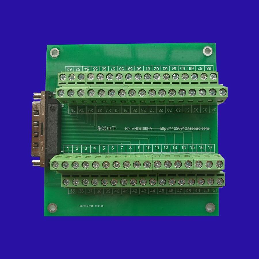 VHDCI 68 Small SCSI 68 Female Adapter Plate Terminal Block Terminal Block with Screw