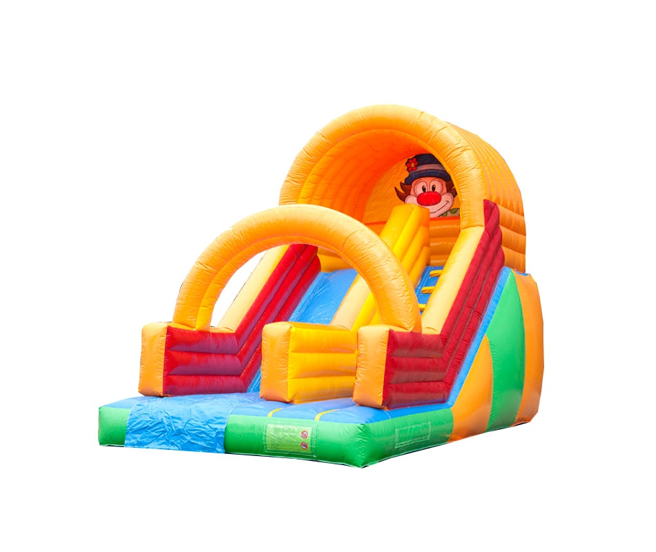 Designer inflatable bounce with giant clown inflatable slide jumping for kids christms decoration inflatable clown