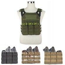 Bonne qualité Nylon Triple cartouche sac Paintball Airsoft MOLLE gilet poche simple/Double Magazine poche accessoires de chasse