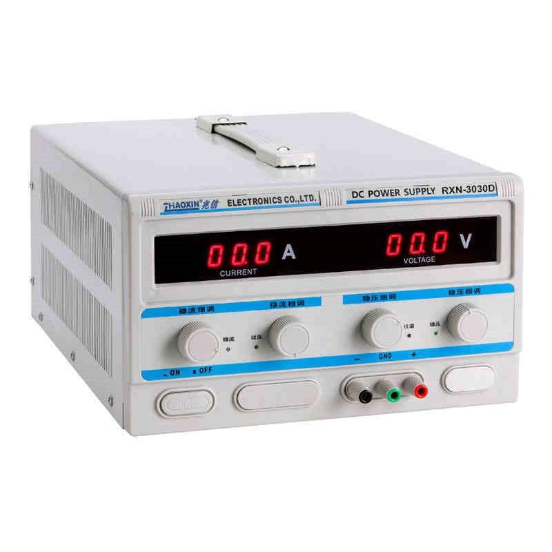 Fuente de alimentación lineal regulada CC RXN-3030D 0-30V 0-30A 0,1 V 0,1 a