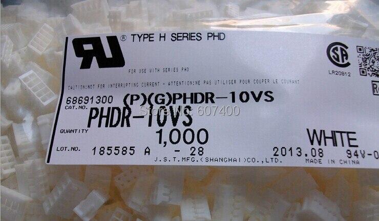 PHDR-10VS CONN الإسكان الدكتوراه 10POS 2 مللي متر المزدوج الأبيض اللون محطات موصلات السكن 100% جديد و الأصلي أجزاء