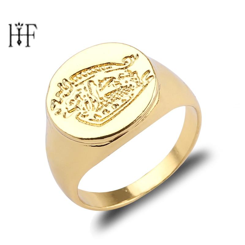 Kingsman ring The Secret Service niestandardowe sygnety dla kobiet mężczyzn biżuteria złoty kolor stopu cynku mężczyzn pierścienie