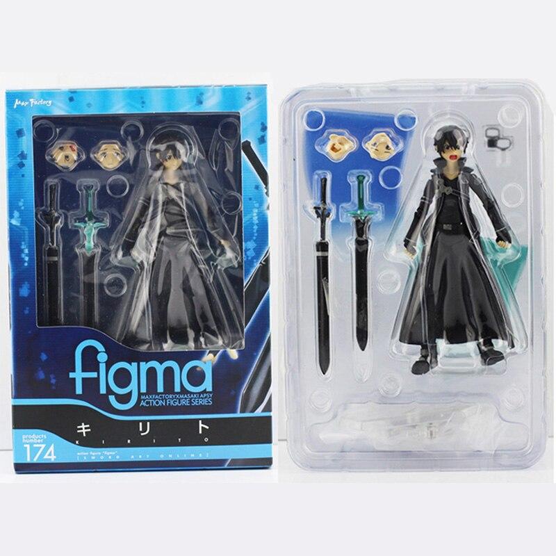 15cm espada arte Online figura de acción SAO Kirito Figma 174 modelo muñeca con espada arma