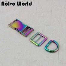 2-10-30sets boucles de curseur de collier de chien arc-en-ciel de 25mm 1