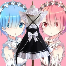 Rem Ram Maid Cosplay Kostuums Re nul kara Hajimeru Isekai Seikatsu Kawaii cos jurken Opnieuw Leven In een Verschillende Wereld Anime Maid