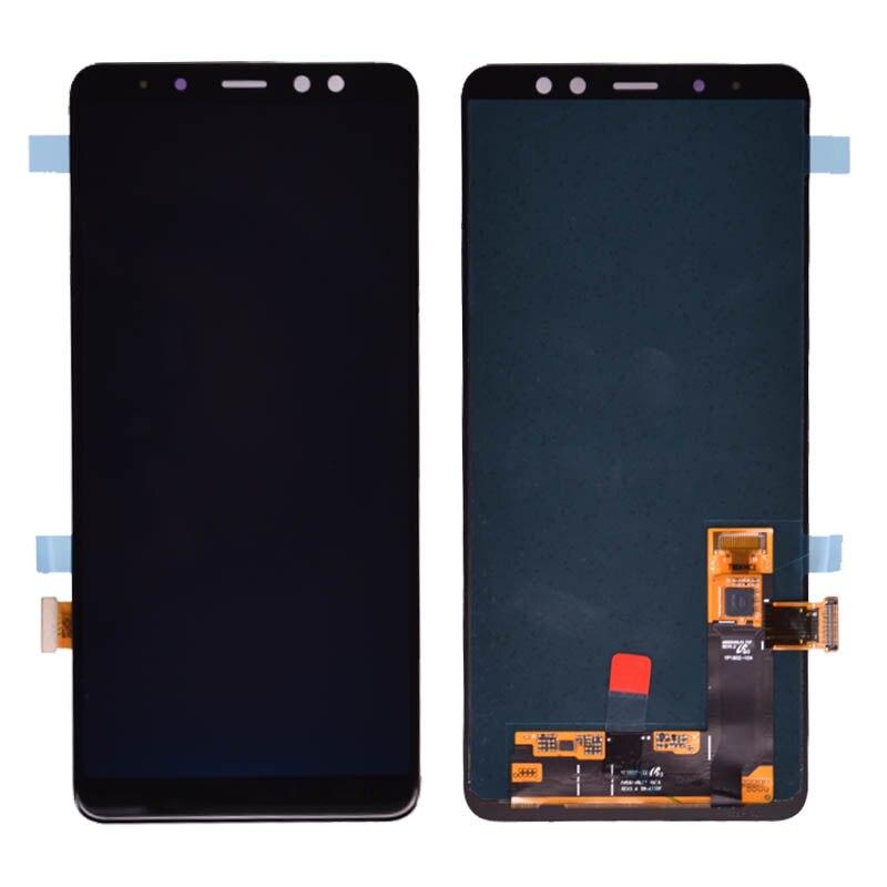 Amoled original para samsung galaxy a8 plus a730 a730f lcd screen display toque digitador assembléia para galaxy a8 + 2018 duos