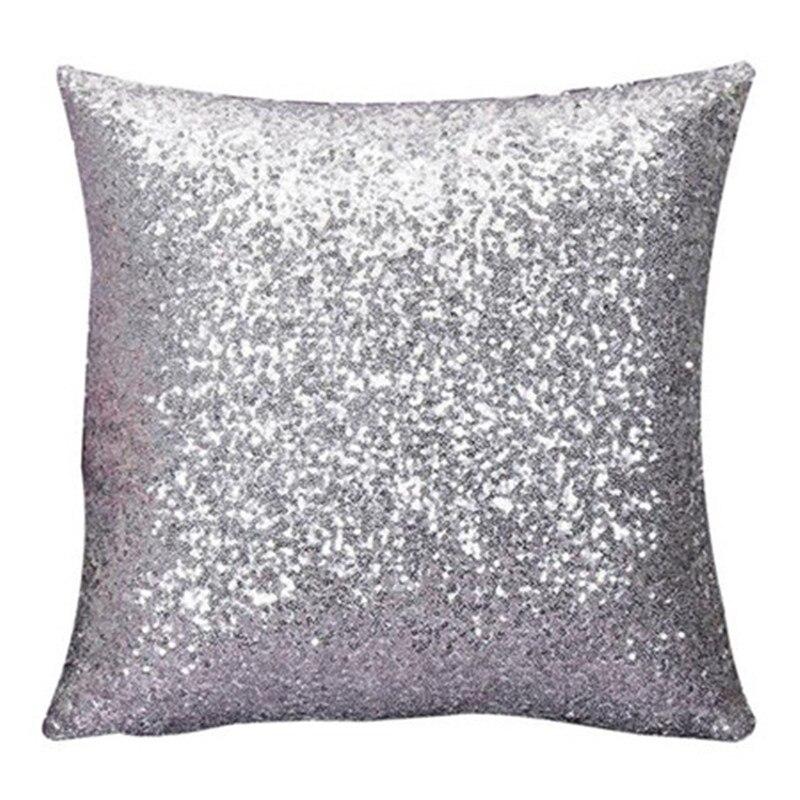 12 Color Sólido Glitter Lentejuelas Cojín Throw Pillow Case Home Cafe pillowslips fundas de almohada paillette calidad nave de la gota