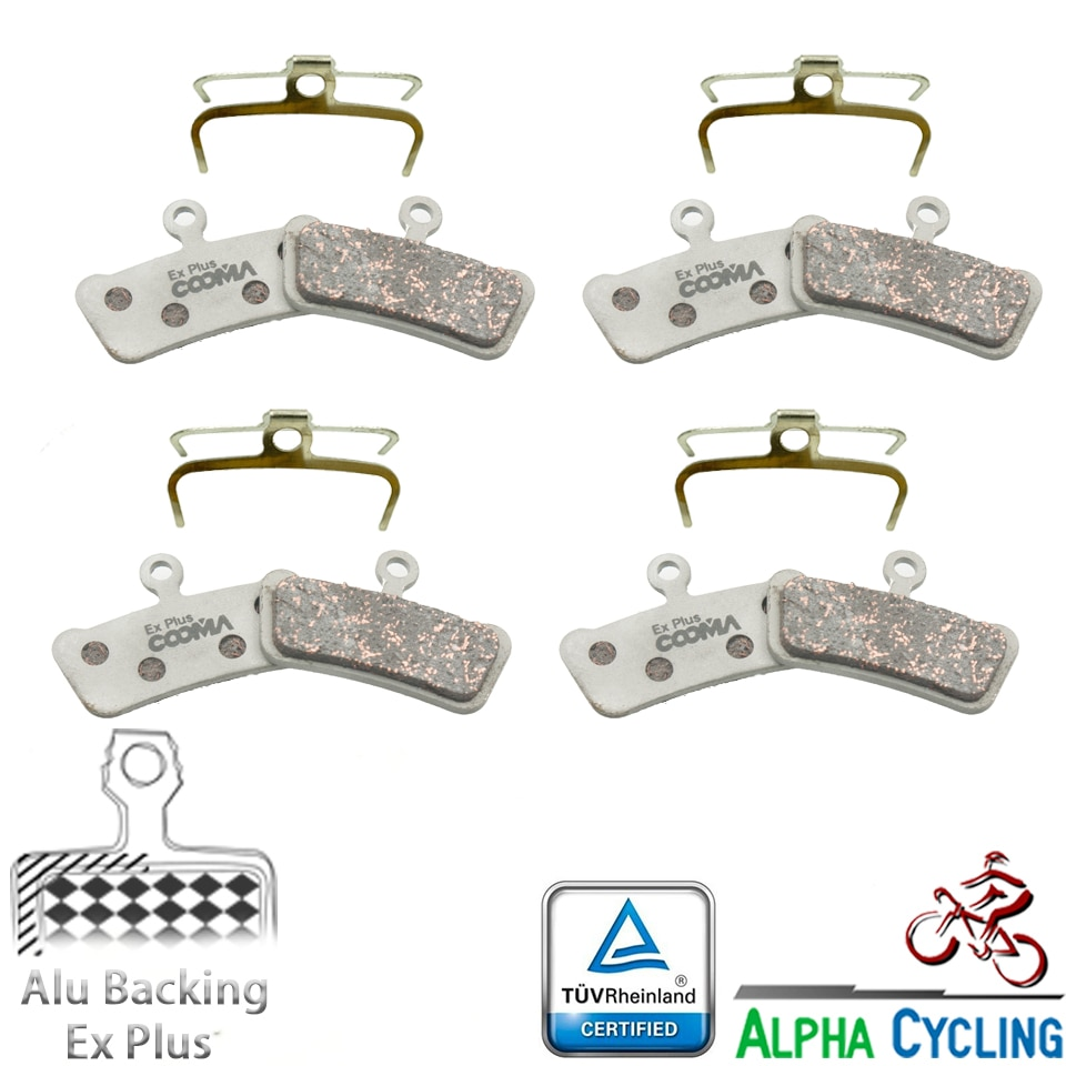 Fahrrad Disc Bremsbeläge für SRAM Guide Ultimative, RSC, RS, R Avid Elixir Trail Disc Bremse, 4 Pairs, Alu-Legierung Ex Plus Klasse