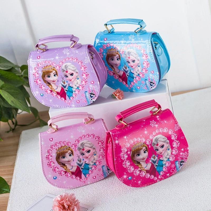 Sac à dos en peluche pour enfants cartable bandoulière préscolaire petite fille sac à bandoulière Elsa Anna sac à main princesse 5-7 ans sac filles