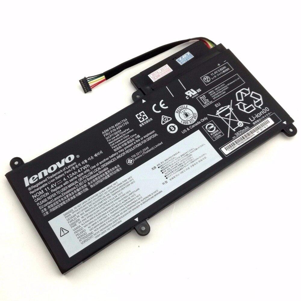 Nueva batería genuina para LENOVO ThinkPad E450 E450C E455 E460 E460C E465 45N1752 45N1753 45N1754 45N1755 45N1756 45N1757