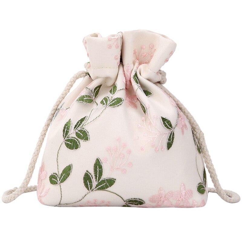 Bordado flor bolso chica hombro bolsa de mensajero