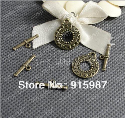 Sweet Bell (14360) Fashion Jewelry Findings,Accessories,charm,pendant,Alloy Antique Bronze 17mm,19mm OT Bracelet clasp  30pcs