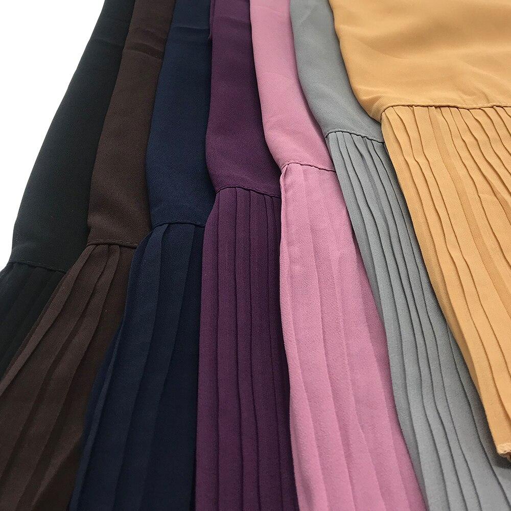 وشاح مطوي من جانب واحد للنساء ، بالجملة ، لون سادة ، تنورة حجاب ، حواف ، وشاح مطوي ، مصنوع حسب الطلب ، 150 قطعة