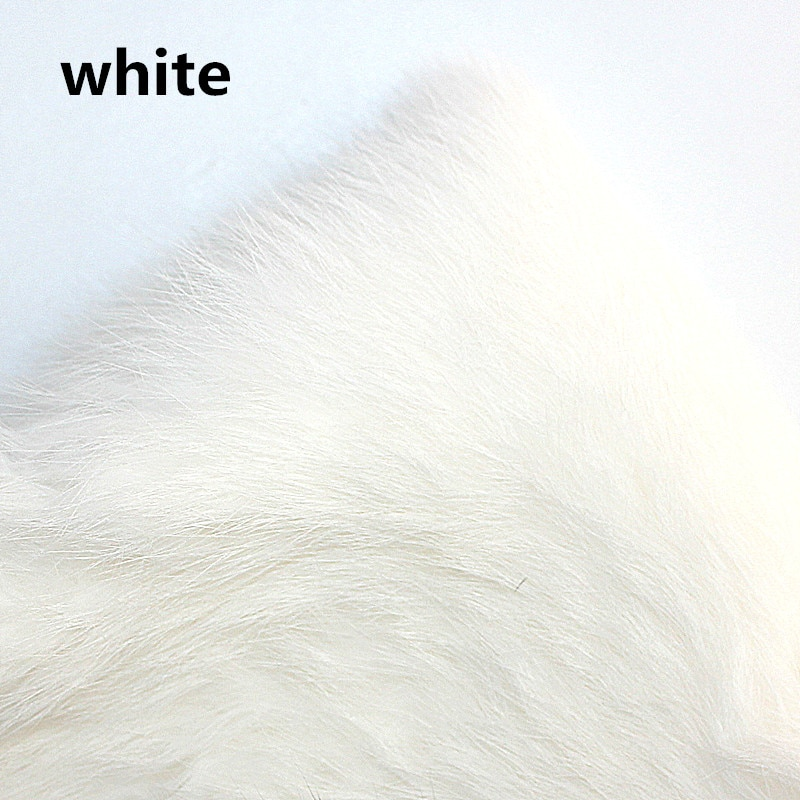 KKWEZVA 1 PC Whole sheet Rabbit Fur Hare Zonker Natural color fly making material for fly fishing lure making insect carp bait enlarge
