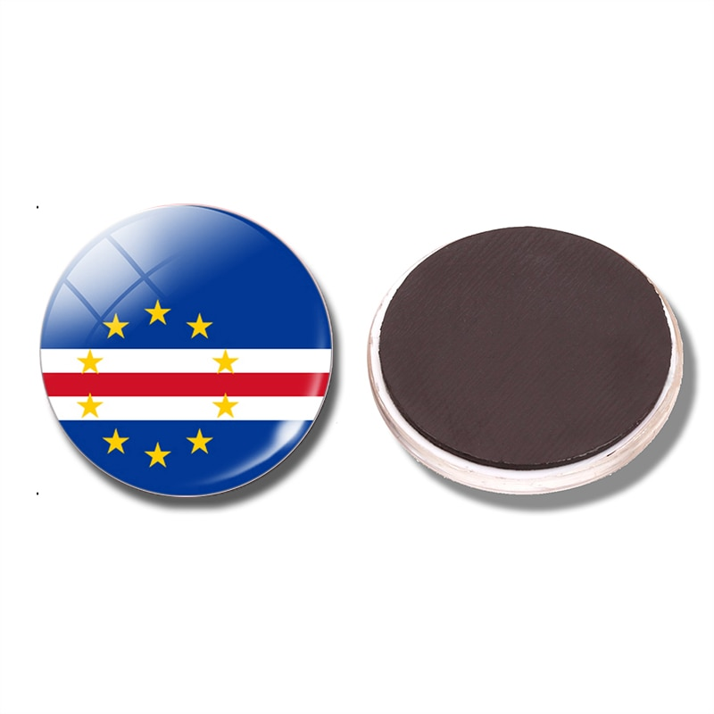 Cabo Verde imán de bandera para frigorífico Sao Tiago isla Praia Calhau Ribeira Grande imanes para la nevera nota titular de la Decoración de casa