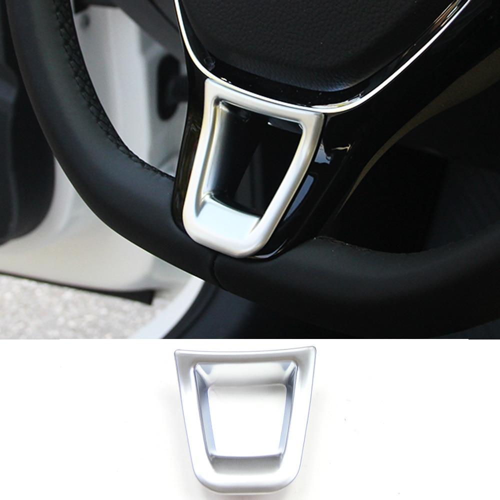 Decoración de cubierta de volante de coche para VW GOLF 7 GTi MK7 POLO Passat B72015 B8 Jetta MK5 MK6 2015-2018 ABS accesorios de diseño
