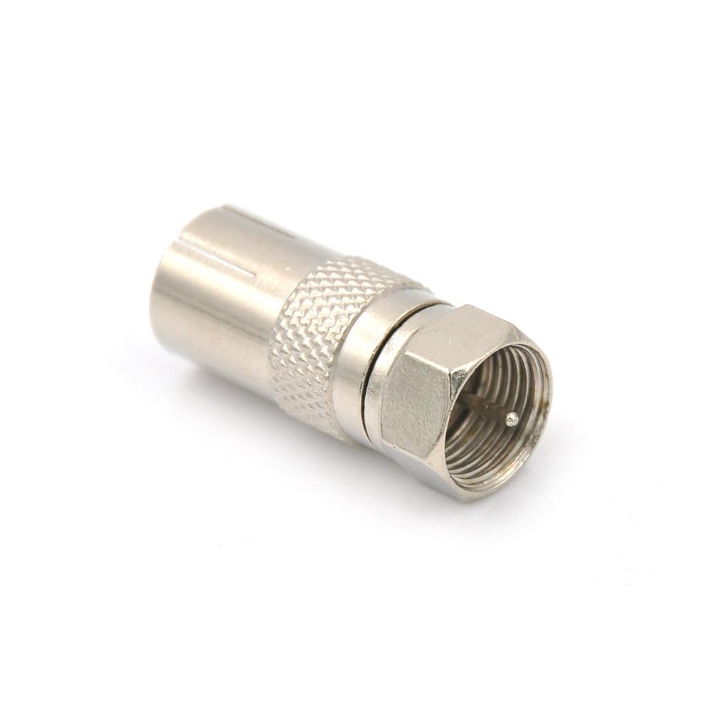 Para satélite TV, conector Coaxial DVR tipo F, adaptador de enchufe macho de aleación, convertidor de conector a toma hembra Coaxial