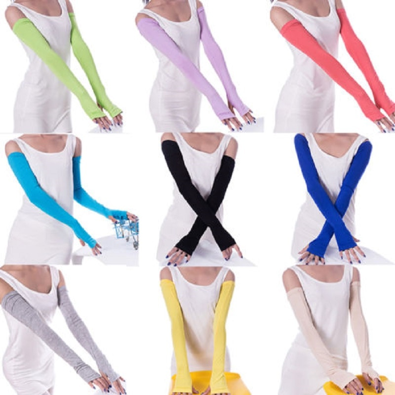 1 пара, 20 цветов, удобные женские теплые хлопковые длинные перчатки без пальцев, модная одежда, аксессуары
