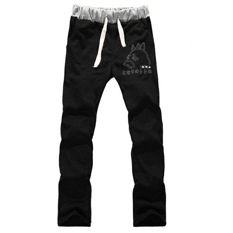 Pantalones de chándal rectos My Neighbor Totoro, pantalones de algodón de forro polar, pantalones de chándal sueltos, pantalones lisos para mujer, pantalones de Cosplay
