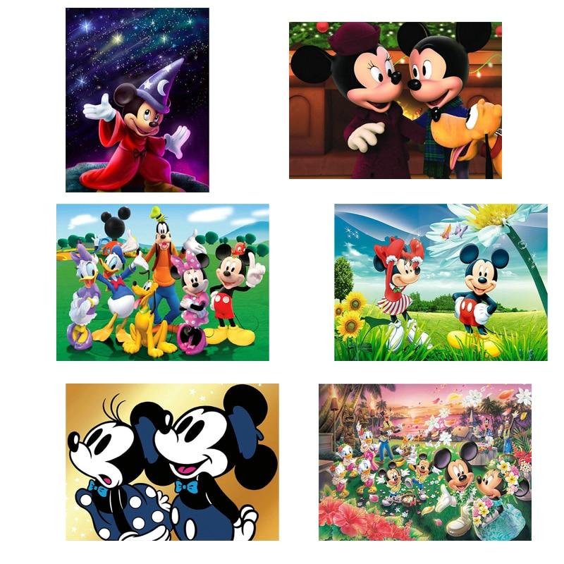 5D DIY cuadro bordado de diamantes Mickey mouse imágenes completas de diamantes de imitación mosaico diamante pintura punto de cruz Disney decoración del hogar