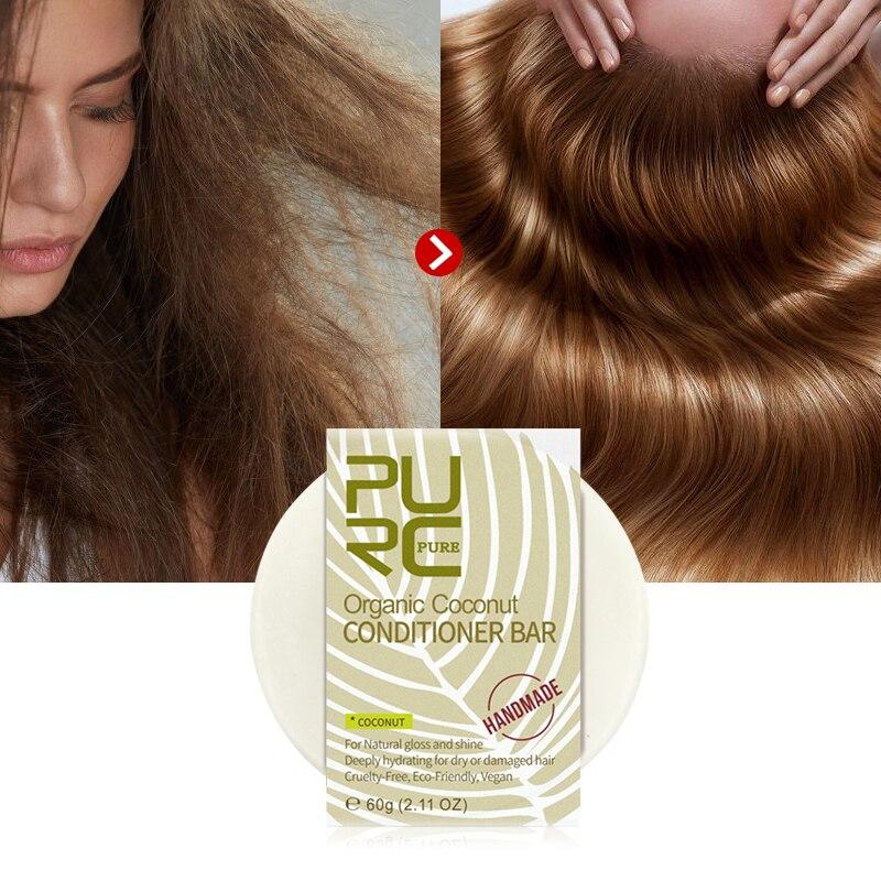 11,11 чистые органические волосы кокосовый кондиционер бар ручной работы Твердые волосы кондиционер мыло глубоко увлажняет для сухой/уход для поврежденных волос