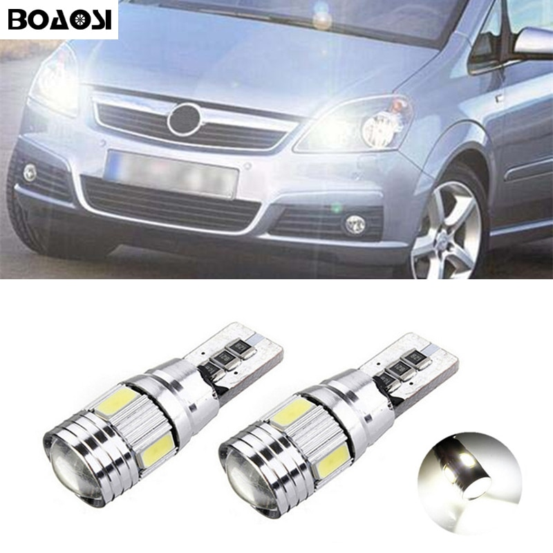 BOAOSI 2x T10 W5W Светодиодная лампа габаритного огня, Canbus, без ошибок, для Opel Astra h j g Corsa Zafira Insignia Vectra b c d