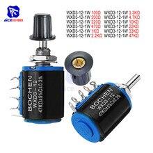 WXD3-13-2W bobinado potenciómetro resistencia 100R 470R 1 K 4,7 K 10 K 22 K 47 K 100KΩ Ohm DE LA precisión lineal potenciómetro